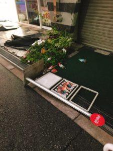 台風21号 東三国 パン屋さん アルル